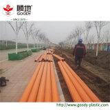 Tubulação municipal da proteção do fio do cabo do grande diâmetro PVC-C do uso da construção da rede da potência do cabo de alta tensão