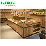 Frutas y Verduras de madera Mostrar Rack para supermercado