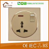 Socket universal económico 5pin con el interruptor de 1gang 1way/2way