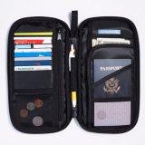 Suporte do passaporte do organizador da carteira do curso para o dinheiro das passagens de embarque dos bilhetes dos cartões de crédito dos passaportes