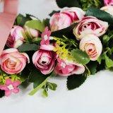 Personalizado de alta calidad hermosa corona de flores artificiales para la decoración