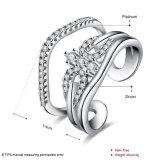 금에 의하여 도금되는 입방 지르코니아 조정가능한 열려있는 반지 교전 보석
