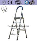 Edelstahl-Jobstepp-Strichleiter /Steel, das Jobstepp-Strichleiter faltet