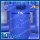 Válvula de puerta de acero de la fragua comercial del aseguramiento de Didtek con el engranaje de gusano