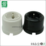 socket de pared de la porcelana de la vendimia de 16A 250V
