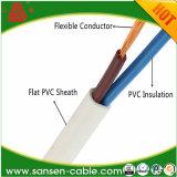 Pvc van de kwaliteit isoleerde en stak Flexibele Vlakke Draad Rvvb 2*0.3mm de Kabel van de Macht in de schede
