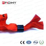 Braccialetto personalizzato promozionale del Wristband di RFID tessuto modo
