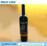 Kundenspezifische Metallwein-Marken-Kennsatz-geprägte Flaschen-Aufkleber-Marke