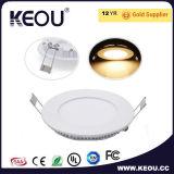 円形LEDの細いパネル3W 6W 9W 12W 15W 18W 24W