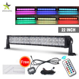 Super Bright DRL+ RVB 22 pouces 120W Offroad barre lumineuse à LED