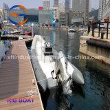 côtes gonflables de fibre de verre de 6.4m Chine