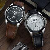 418 Yazole assista com número de Romanichéis relógio de pulso de couro