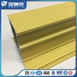 ISO-gelbe Puder-Beschichtung-Aluminiumprofil für Fenster-Tür