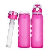 La venta al por mayor durable no tóxico de 1000 ml pliega la botella de agua del filtro