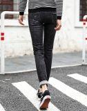 Mulheres Usado Jean De tricô Denim para Mulheres