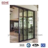 Porte en aluminium de bureau intérieur d'illustrations avec Windows en verre