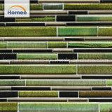 Fábrica de Foshan Decoración de interiores de estilo clásico de Gaza mosaico de vidrio verde
