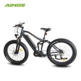 METÀ DI azionamento del motore elettrico della bici con la sospensione completa e la batteria nascosta