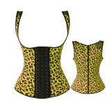 Corsé atractivo de la talladora de la carrocería de la correa del amaestrador de la cintura del látex del leopardo que adelgaza