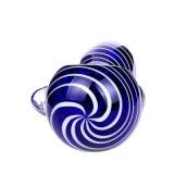 Tubulação de vidro azul da mão da tubulação de vidro da colher da tubulação de fumo da tubulação