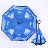 ゴルフ屋外車雨傘を、ゴルフ傘を広告する旅行防風の傘広告する逆にされた及び逆の傘