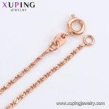 44677人の方法銅合金の金張りのラインストーンの女性の宝石類のネックレス