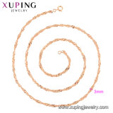 10グラムの宝石類、優雅で簡単なネックレスの44356の方法ローズの金によってめっきされるネックレスデザイン