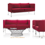 Conception simple Bureau de couleur rouge canapé avec table à café