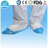 Cubierta no tejida del zapato del azul del CPE PP+PE de la cubierta plástica del zapato
