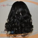 Parrucca superiore di seta riccia dei capelli brasiliani superiori del grado (PPG-l-0163)