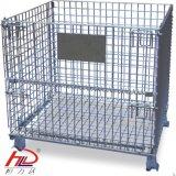 Armazenamento dobrável flexível Wire Mesh Cage