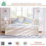 Luxuxhand, die festes Holz-König Size Bed Wedding Bed schnitzt