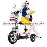 3 Rad-elektrisches Fahrrad, das elektrischen Roller für ältere Leute faltet