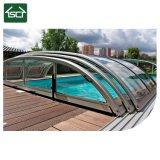 La sécurité ou de glissement en polycarbonate de couverture de piscine télescopique