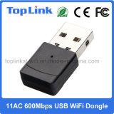 802.11AC 600Mbps 2.4G/5g 듀얼-밴드 고속 무선 USB WiFi 접합기