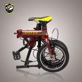 Bicicleta dobrável de liga leve de alumínio de 14 polegadas