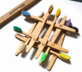 Зубная щетка бамбука технологии естественной многоразовой характеристики 100% самая последняя