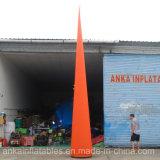 Publicidade exterior barato laranja insuflável de vinil vermelho azul Tubo de Milho