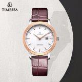 Bande de cuir verre saphir OEM Watch Lady montres à quartz de marque71011