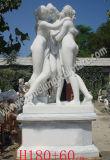 Scultura nuda di marmo bianca naturale (SK-2196)