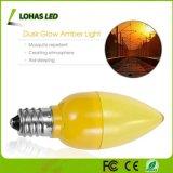Mini bulbo equivalente de la noche del bulbo E12 10W LED del amarillo LED C7 para la iluminación casera