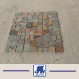 La naturaleza del suelo amarillo oxidado la cultura negra impermeabilización de cubiertas de pizarra mosaico medallón de mosaico para decoración de jardín