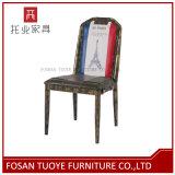 Farbanstrich-Metallgaststätte-Kaffee-Stuhl mit speziellem Vielzahl-Muster