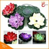 Piscine dans le jardin de fleur de lotus flottant LED solaire lumière de nuit nuit pour l'étang Décoration de la fontaine