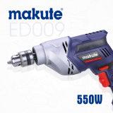 taladro eléctrico de mano 550W del taladro del precio eléctrico profesional de la máquina (ED009)