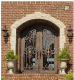 Porta de entrada de aço da porta da porta luxuosa do ferro feito da casa de campo