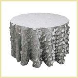Tela do laço do círculo do Tablecloth de Decorativetaffeta do casamento para o pano de tabela