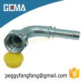26791 74 Cône en acier inoxydable JIC coude à 90 degrés le connecteur de flexible des raccords hydrauliques