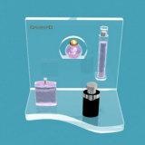 Présentoir cosmétique de parfum acrylique de partie supérieure du comptoir de Cucstom