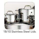 3つの層クラッディング(CX-SS1201)が付いているステンレス鋼の保全の調理器具セット